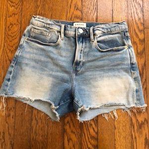 Frame le brigette denim shorts 4 inch inseam
